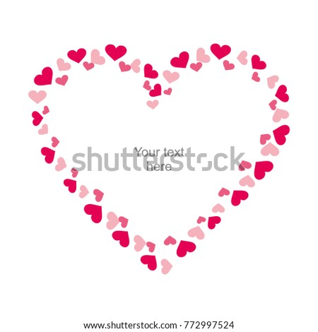 Valentine Day Frame Heart Frame Wedding Stock Vector (Royalty Free ...