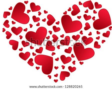 Valentine day Heart. Vector. - stock vector