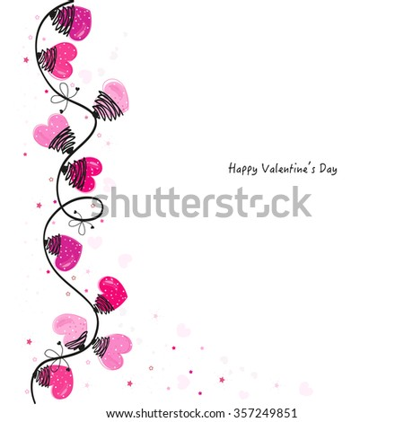 Valentine Day hearts vector greeting card