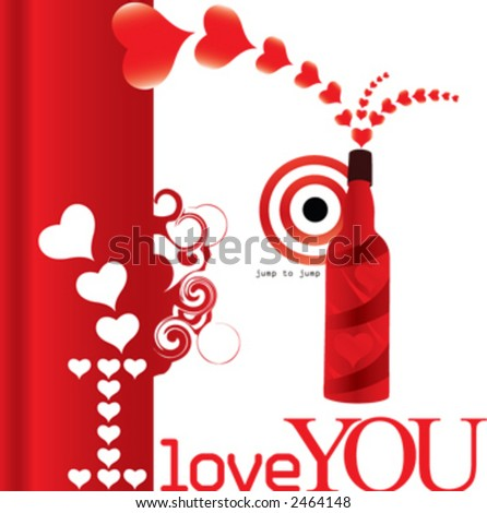 valentine day, I love you - stock vector