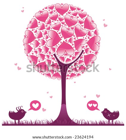 Valentine decorative tree 1.  To see similar, please VISIT MY GALLERY.
