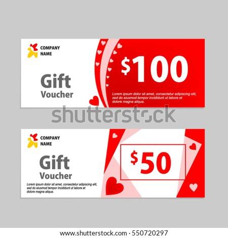 Valentine gift voucher card template design stock vector 550720297 valentine gift voucher card template design concept for retail shop voucher business accmission Choice Image