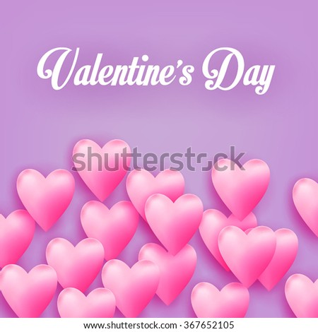Valentine greeting card. Flying Heart Candy - stock vector
