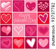 Valentine heart greeting card. Vector - stock photo