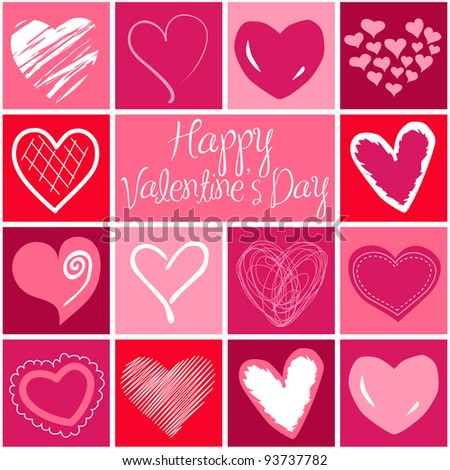 Valentine heart greeting card. Vector - stock vector