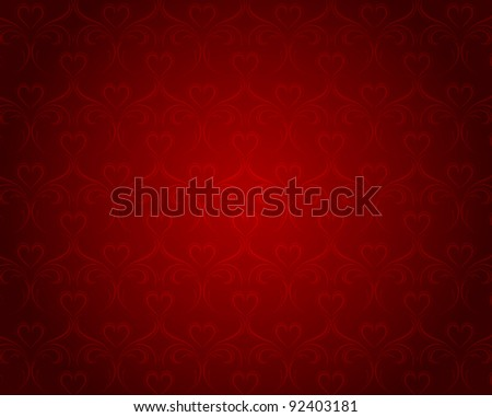 Valentine Heart Patterns. Cool Illustration for design. - stock vector