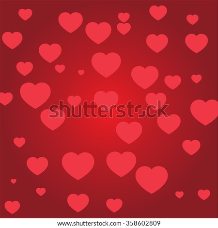 Valentine & Heart: The Valentine fill with heart background. - stock vector