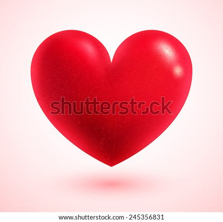 Valentine heart. Vector illustration. Isolated. - stock vector