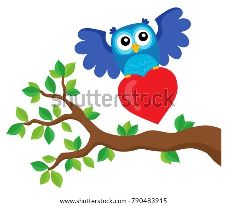 Valentine owl topic image 9 - eps10 vector illustration.