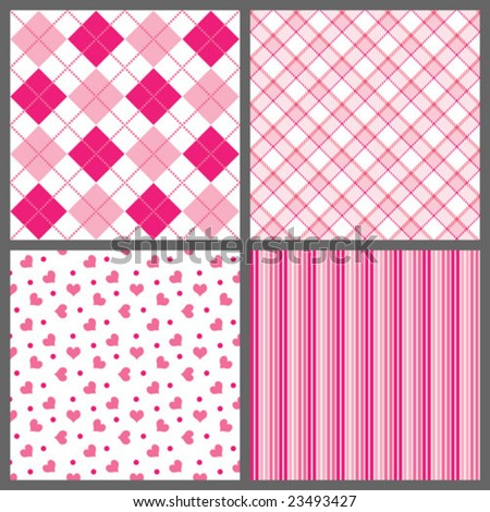 Valentine Patterns Vector