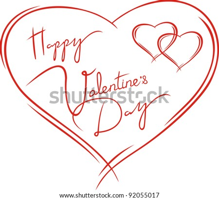 valentine's card - stock vector