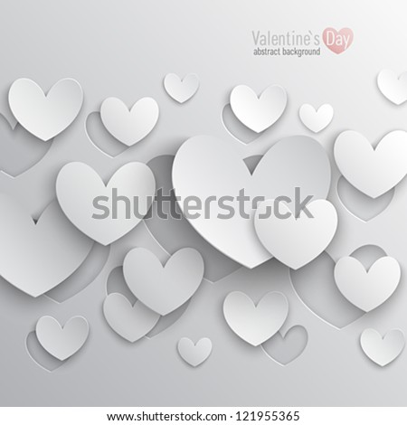 Valentine`s Day abstract background. Vector illustration. - stock vector