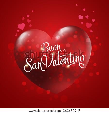 Valentines day red heart italian buon stock vector for San valentino in italia