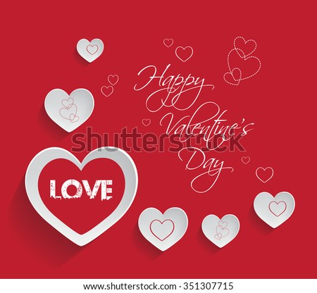 valentine's day background - stock vector