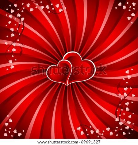 Valentine`s Day background - stock vector