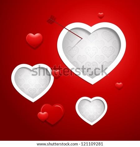 Valentine's Day Background design heart - stock vector