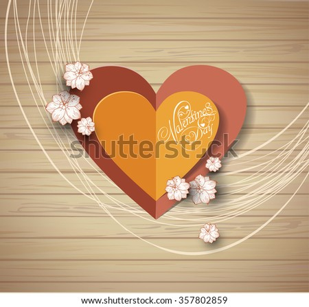 valentine's day background. Greeting Card. Invitation card for wedding - stock vector