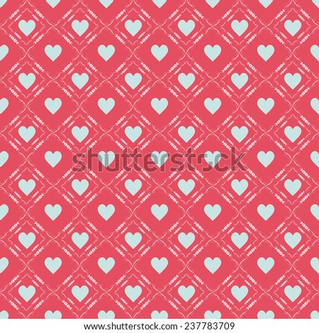 Valentine's day background (seamless)  - stock vector