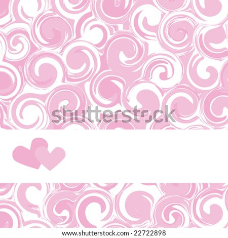 valentine's day background, vector illustration - stock vector