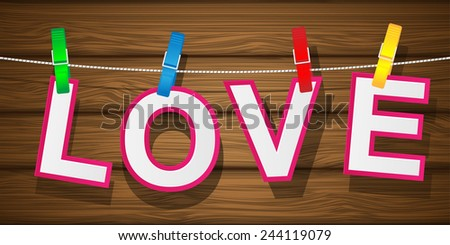 Valentine's Day background. Vector illustration. - stock vector