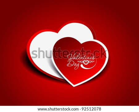 valentine's day background, vector illustration.