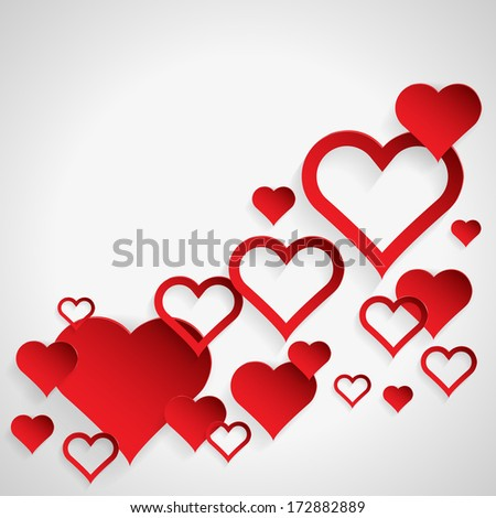 Valentine's day background with abstract hearts and place for your text. Vector illustration.