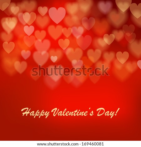 Valentine's day background with hearts. Vector illustration. - stock vector