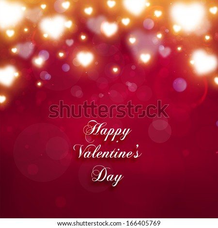 Valentine's Day Background with Hearts. Vector Love Design. - stock vector