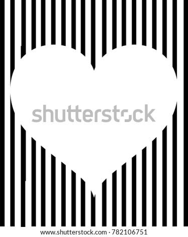 Valentines Day Black White Striped Background Stock Photo (Photo ...