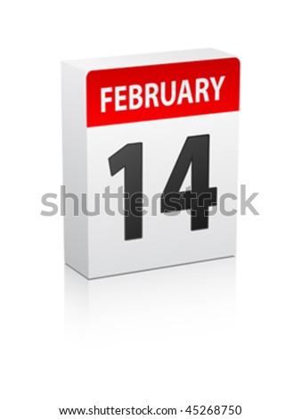 valentine's day box - stock vector