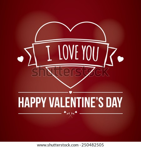 Valentine's Day Card - stock vector