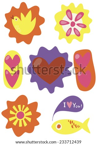 Valentine's Day card. Valentine's day funny banner. - stock vector