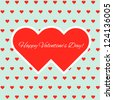 Valentine's day card. Vector image - stock vector