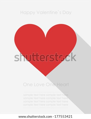 Valentine`s day card with heart - stock vector