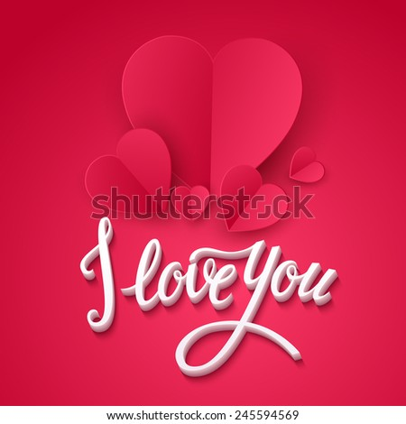 Valentine's Day cards. Vector illustration - stock vector