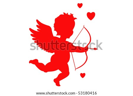 Valentine's day cupid - stock vector
