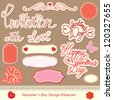 valentine's day design elements - different labels - stock vector