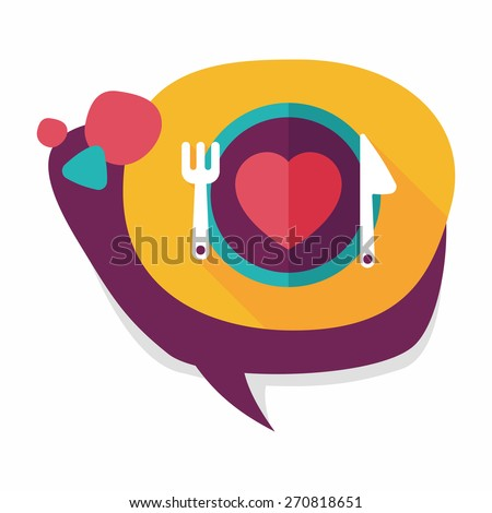 Valentine's Day flat icon with long shadow,eps10 - stock vector