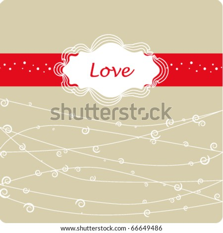 valentine`s day frame - stock vector