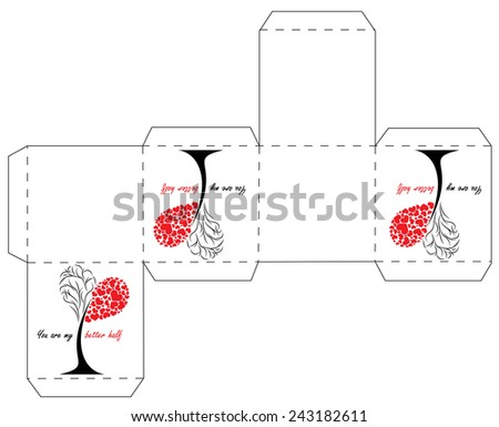 Cube Box Template Stock Vector   Shutterstock