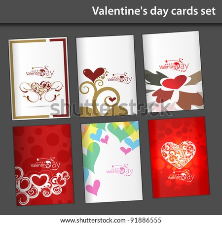 valentine's day greeting card - stock vector