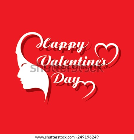 Valentine's day greeting card design vector illustration - stock vector