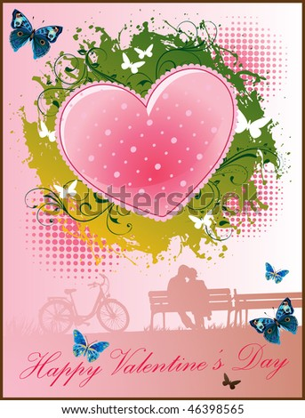 valentine's day greeting design - stock vector
