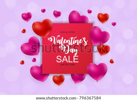 Valentines Day Heart Love Feelings Background Stock Vector ...