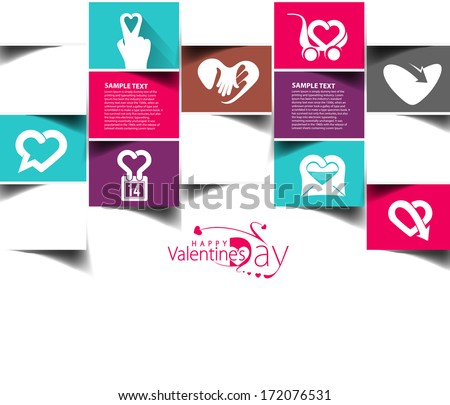 Valentine's Day Icon Design Element - stock vector