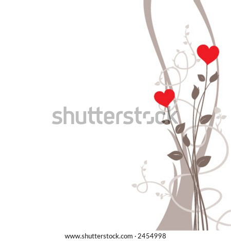 Valentine's day illustration - stock vector