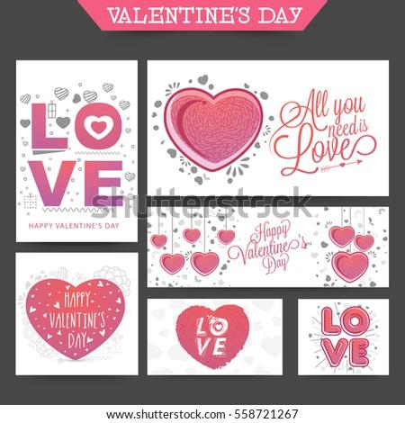 Valentines Day Party Celebration Flyer Banner Stock Photo Photo