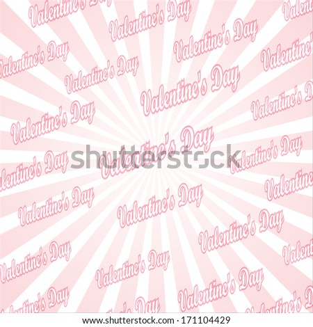 valentine's day, popular abstract pink and white rays background television vintage