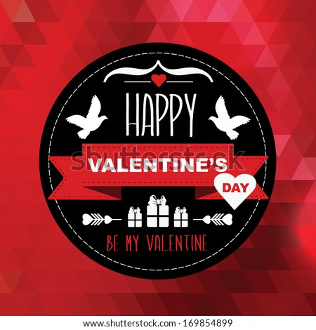 Valentine's Day poster.Typography.Vector illustration. - stock vector