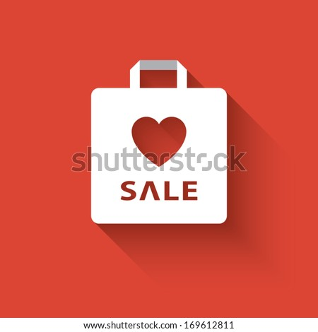 Valentine's day sales vector illustration suitable for advertising or as a web element, etc. Eps10 vector illustration. - stock vector